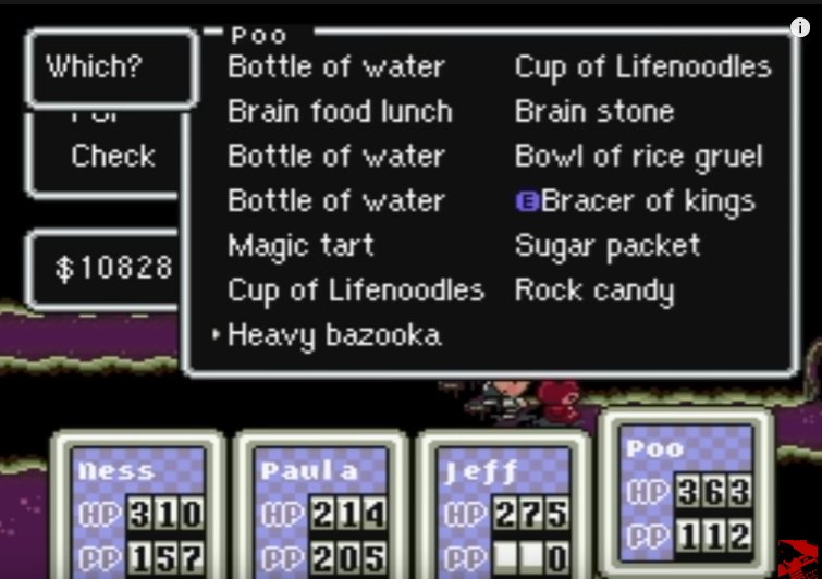 Earthbound_Poo_inventory_1
